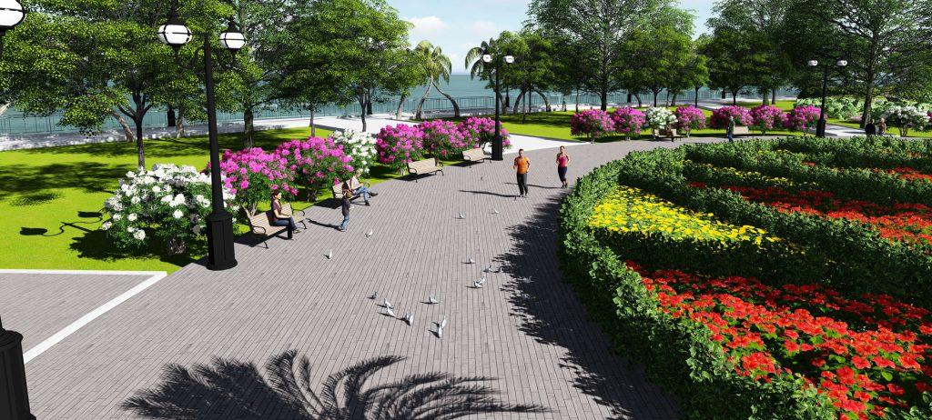 Vườn hoa dự án - Hòa mình vào thiên nhiên thơ mộng